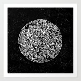 Black Constellation Art Print