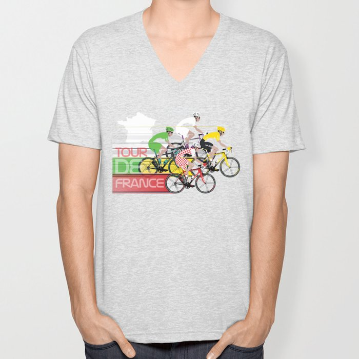 Tour De France Unisex V-Neck