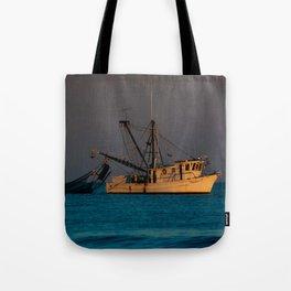 Tucker J fishing boat Tote Bag
