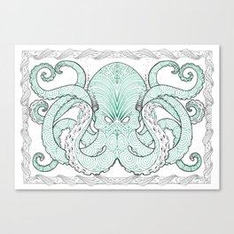 Ko te pou (The Octopus) Canvas Print