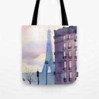 paris Tote Bags featuring Paris by Emma Reznikova