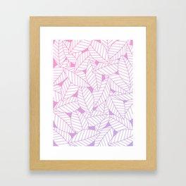 Leaves in Unicorn Framed Art Print