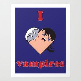 I Heart Vampires Art Print