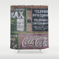 coca cola Shower Curtains featuring Coca-Cola & Borax by Andrea Jean Clausen - andreajeanco