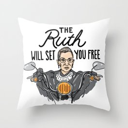 The Ruth Will Set You Free Throw Pillow