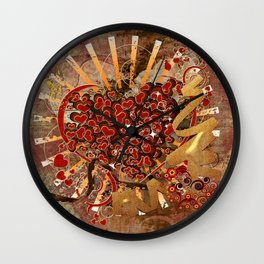 Mit Liebe 1 - with love 1 Wall Clock