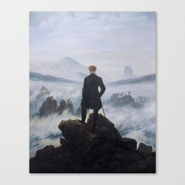 Friedrich Wanderer Above the Sea of Fog Canvas Print