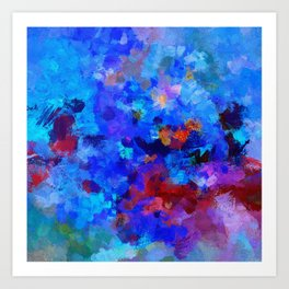 Abstract Seascape Painting Art Print