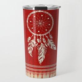 ARETERSTING V50 - Original Red Bohemian Moroccan Artwork Travel Mug