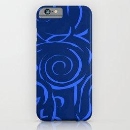 Blue holes iPhone Case