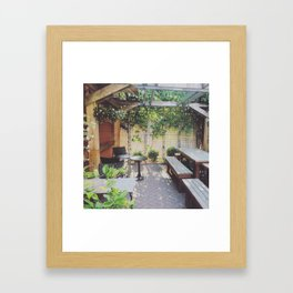 Patio Framed Art Print