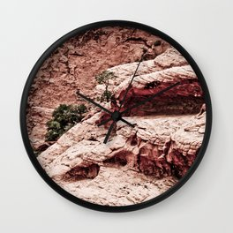 THE HEART OF THE MOUNTAINS Wall Clock