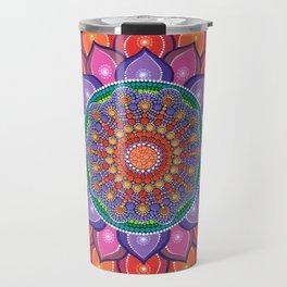 Lotus Rainbow Mandala Travel Mug