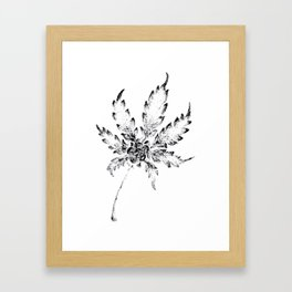 Black & White (Cannabis Resin Leaf) Framed Art Print