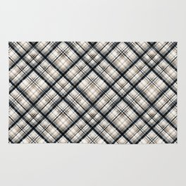 Squares and rectangles under the slope, checkered pattern. Rug