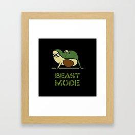 Beast Mode Avocado Framed Art Print