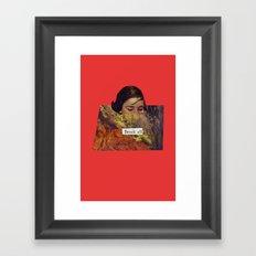 Break All Framed Art Print