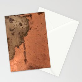 Tarnished Copper rustic decor Stationery Cards