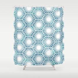 Watercolor daisy Shower Curtain