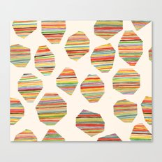watercolor geometric lines Canvas Print