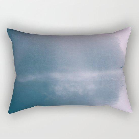 Pastel Serenity - Misty River Scene Rectangular Pillow