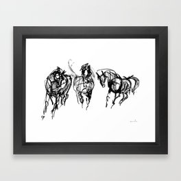 Horses (Trio) Framed Art Print