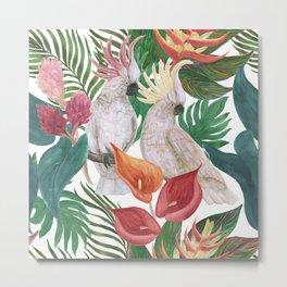 cockatoo pattern Metal Print
