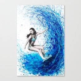 Thoughts and Waves Canvas Print