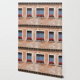 Three Windows in Venice Wallpaper