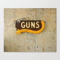 guns Canvas Prints featuring Guns by Roadhouse Relics
