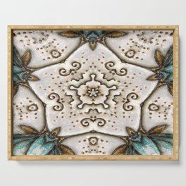 Sparkle Star Kalidoscope Art Serving Tray