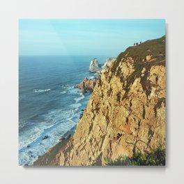 Cabo da Roca, Portugal Analog 6x6 Kodak Ektar 100 (RR 161) Metal Print