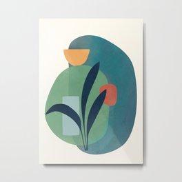 Minimal Abstract Shapes No.42 Metal Print