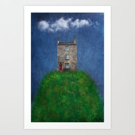 House on a hill Art Print