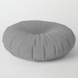 Black and White Micro Houndstooth Check Floor Pillow