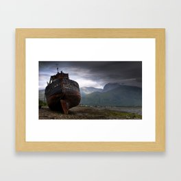 Left high and dry. Framed Art Print