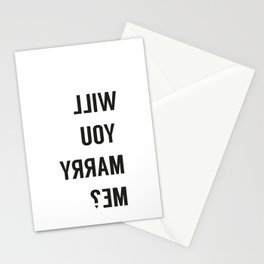will you marry me _ selfie Stationery Cards