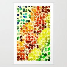 Happy Dots Art Print