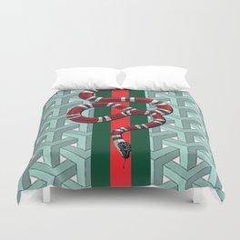 Goyard guci snake cheveron pattern Duvet Cover
