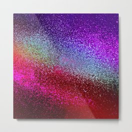 RAINBOW MOSAIC GLITTER Metal Print