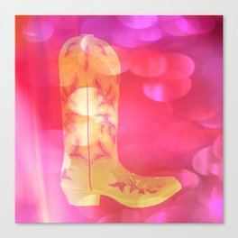 Boot Scootin' Yellow Canvas Print