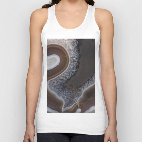Agate crystal texture Unisex Tank Top