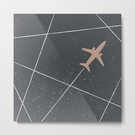 The Jet Set - Charcoal Metal Print