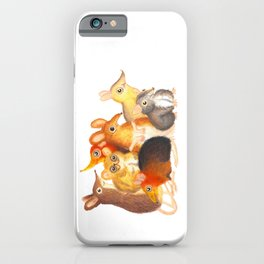 Elephant shrew crew iPhone Case