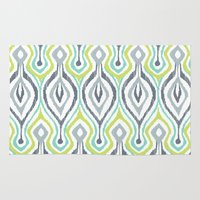 ikat Area & Throw Rugs featuring Sketchy IKAT by Patty Sloniger