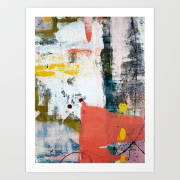 13th and Grant: a pretty street art piece in pink black and yellow by Alyssa Hamilton Art Art Print