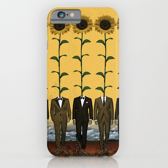 Sunflowers In Suits Print iPhone & iPod Case