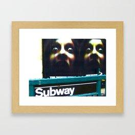 DON'T SLEEP IN THE SUBWAY! Framed Art Print