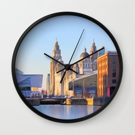 Albert Dock And the 3 Graces Wall Clock
