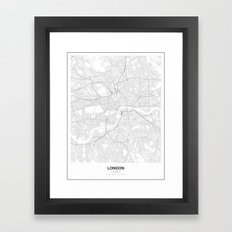 London, England Minimalist Map Framed Art Print
